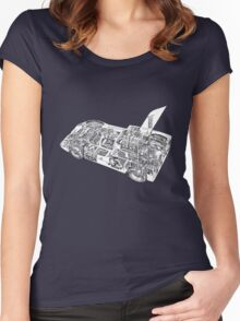 Chaparral Sports car. Women's Fitted Scoop T-Shirt