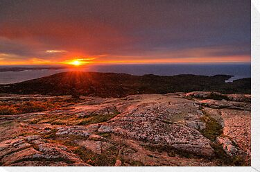 Sunrise from Cadillac Mountain by Oscar Gutierrez