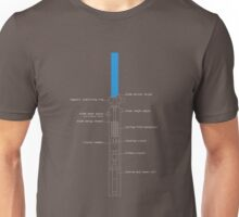Republic Era Lightsaber Schematics  Unisex T-Shirt