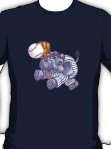 Wild Animal League Elephant Baseball  T-Shirt