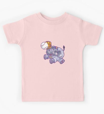 Wild Animal League Elephant Baseball  Kids Tee