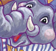 Wild Animal League Elephant Baseball  Sticker
