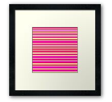 Bright hot pink and neon yellow horizontal linework Framed Print