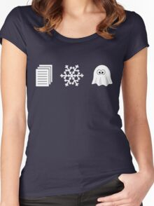 Paper, Snow, A GHOST! Women's Fitted Scoop T-Shirt