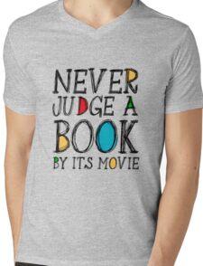 Never judge a book by its movie Mens V-Neck T-Shirt