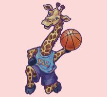 Wild Animal League Giraffe Basketball Star One Piece - Long Sleeve