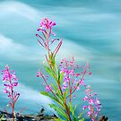 Fireweed and Stream by Oscar Gutierrez
