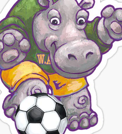 Wild Animal League Hippo Soccer Player Sticker