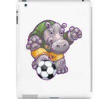 Wild Animal League Hippo Soccer Player iPad Case/Skin