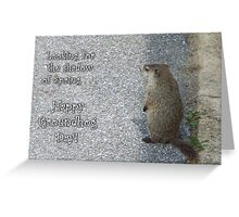 Groundhog Day - Looking for Spring Greeting Card