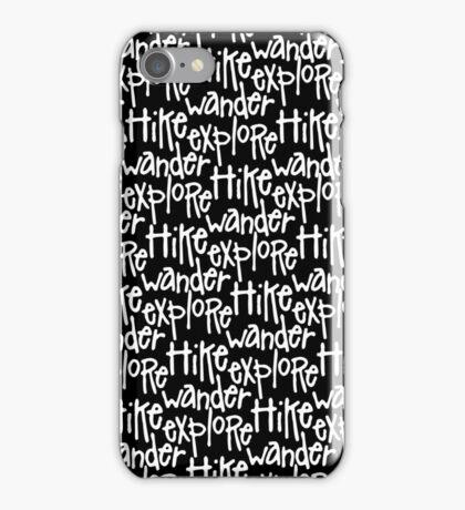 Hike Wander Explore Pattern iPhone Case/Skin