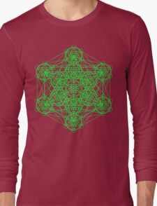 Infinity Cube Green Long Sleeve T-Shirt