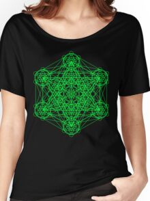Infinity Cube Green Women's Relaxed Fit T-Shirt