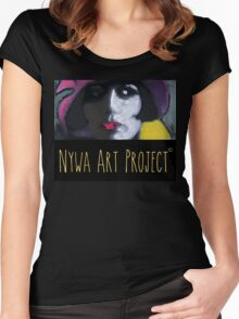 Beautiful woman - Art Women's Fitted Scoop T-Shirt