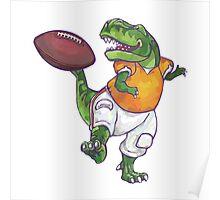 Wild Animal League Dino Football Star Poster