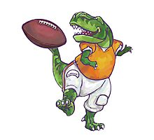 Wild Animal League Dino Football Star Photographic Print
