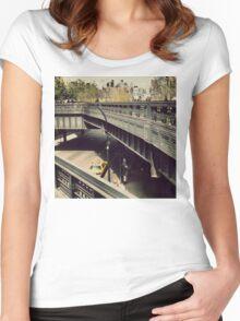 New York High Line. New York City, New York Women's Fitted Scoop T-Shirt