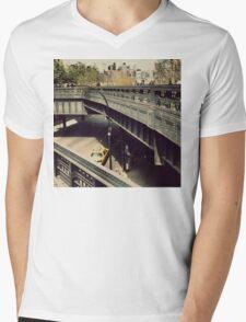 New York High Line. New York City, New York Mens V-Neck T-Shirt