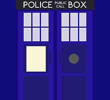 Dr Who TARDIS Minimalist by Hatty Holme
