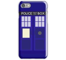Dr Who TARDIS Minimalist iPhone Case/Skin