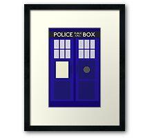 Dr Who TARDIS Minimalist Framed Print