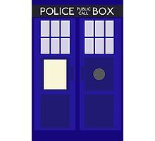 Dr Who TARDIS Minimalist Photographic Print