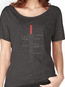 New Order Lightsaber Schematics  Women's Relaxed Fit T-Shirt