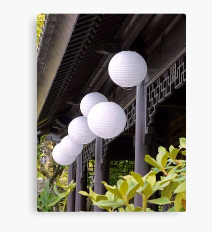 white paper lanterns Canvas Print