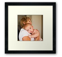 Kiani & Grandmother Framed Print