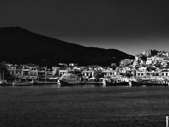 Skiathos B/W by larry flewers