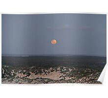 Full Moon Rising over Yorke Peninsula Poster