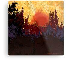 """""""Rising Sun"""" Metal Print"""