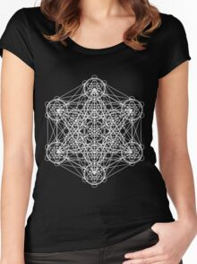 Infinity Cube White Women's Fitted Scoop T-Shirt