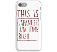 Japanese Lunchtime Rush. iPhone Case/Skin