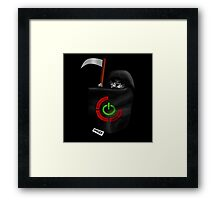 Mini Red Ring Of Death Framed Print