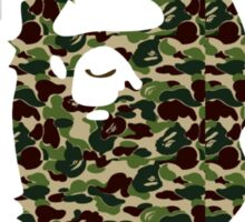 A bathing ape round text military Sticker
