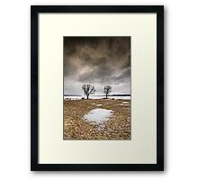 ...too cold two tango.. Framed Print