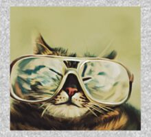 Cute Cat With Glasses One Piece - Long Sleeve