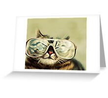 Cute Cat With Glasses Greeting Card