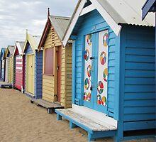 Brighton Beach Huts by Jen Bullen