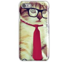Cute Executive Cat iPhone Case/Skin