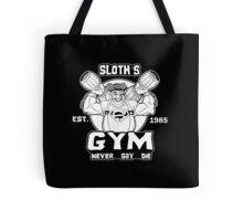 Gym Sloth Goonies Tote Bag