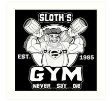 Never Say Die Gym Art Print