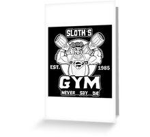 Never Say Die Gym Greeting Card
