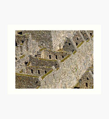 Una historia en los fragmentos de piedra Art Print