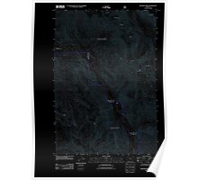 USGS Topo Map Oregon Jim White Ridge 20110816 TM Inverted Poster