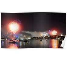 cremorne point fireworks Poster
