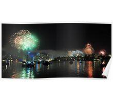 sydney fireworks Poster