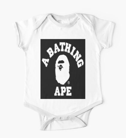 Black Bathing Ape One Piece - Short Sleeve