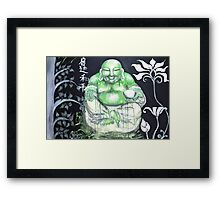 Laughing Buddha ~ Enlightened Path to Peace & Love Framed Print